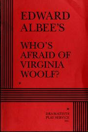 Cover of: Edward Albee's Who's afraid of Virginia Woolf?