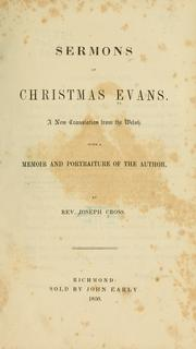 Cover of: Sermons of Christmas Evans