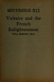 Cover of: Voltaire and the French enlightenment