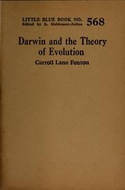 Cover of: Darwin and the theory of evolution