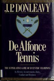 Cover of: De Alfonce tennis