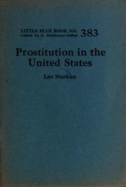 Cover of: Prostitution in the United States