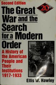 Cover of: The Great War and the search for a modern order