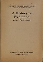 Cover of: A history of evolution