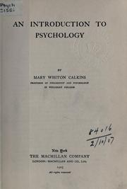Cover of: An introduction to psychology