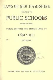 School laws by New Hampshire.