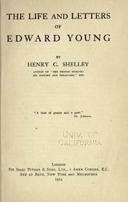 Cover of: The life and letters of Edward Young