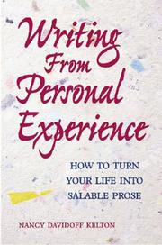 Cover of: Writing from Personal Experience | Nancy Kelton
