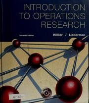 Cover of: Introduction to operations research | Frederick S. Hillier