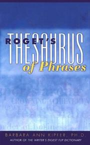Cover of: Roget's thesaurus of phrases