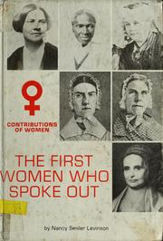 Cover of: The first women who spoke out