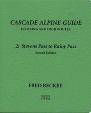 Cover of: Cascade Alpine Guide | Fred W. Beckey