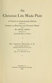Cover of: The Christian life made plain