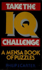 Cover of: Take the IQ challenge | Philip J. Carter