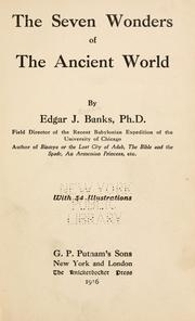Cover of: The seven wonders of the ancient world