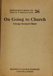 Cover of: On going to church