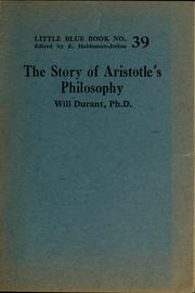 Cover of: The story of Aristotle's philosophy