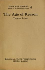 Cover of: The age of reason | Henry M. Tichenor