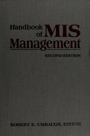 Cover of: Handbook of MIS management |