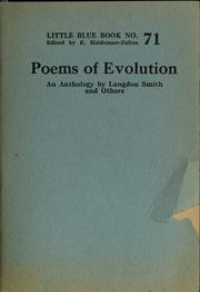 Cover of: Poems of evolution | Langdon Smith