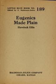 Cover of: Eugenics made plain