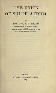 Cover of: The Union of South Africa