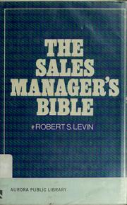 Cover of: The sales manager's bible