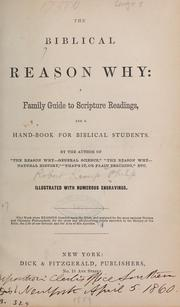 Cover of: The Biblical reason why | Robert Kemp] Philp