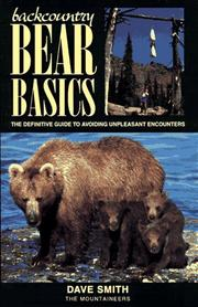 Cover of: Backcountry Bear Basics | David Smith (undifferentiated)