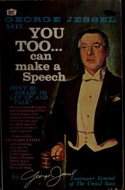 Cover of: You too can make a speech