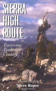 Cover of: The Sierra High Route