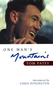 Cover of: One man's mountains
