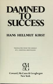 Cover of: Damned to success