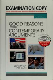 Cover of: Good reasons with contemporary arguments | Lester Faigley