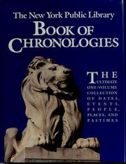 Cover of: The New York Public Library book of chronologies by Bruce Wetterau