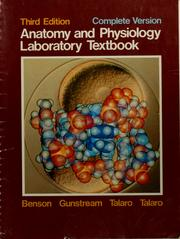 Cover of: Anatomy and physiology laboratory textbook |