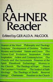 Cover of: A Rahner reader