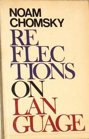 Cover of: Reflections on language by Noam Chomsky