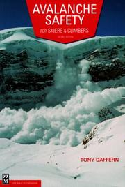 Cover of: Avalanche safety for skiers & climbers | Daffern, Tony.