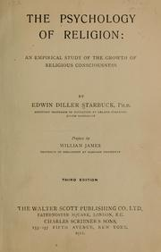 Cover of: The psychology of religion. | Edwin Diller Starbuck
