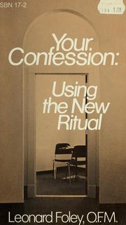 Cover of: Your confession | Leonard Foley