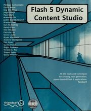 Cover of: Flash 5 dynamic content studio