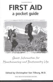 Cover of: First Aid: A Pocket Guide
