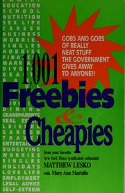 Cover of: 1001 government freebies and cheapies | Matthew Lesko