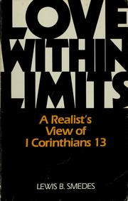 Cover of: Love within limits | Lewis B. Smedes
