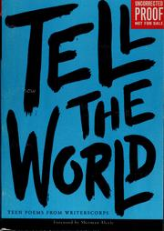 Cover of: Tell the world | WritersCorps