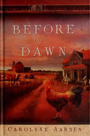Cover of: Before the dawn