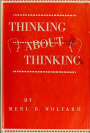 Cover of: Thinking about thinking
