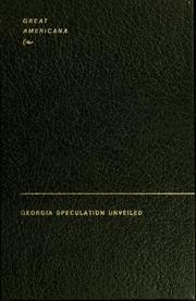 Cover of: Georgia speculation unveiled