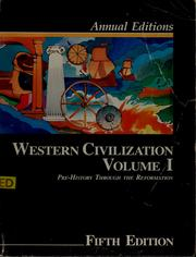 Cover of: Annual Editions Western Civilization: Pre-History Through the Reformation